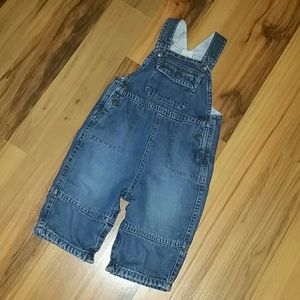 Cotton lined Old Navy 6-12 months overalls.